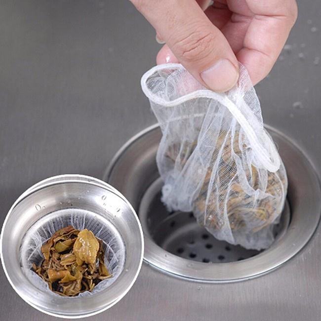 Combo 100 túi lọc rác bồn rửa chén siêu tiện dụng, 100 túi dùng lên tới 3 tháng, sử dụng 1 lần (Trắng)