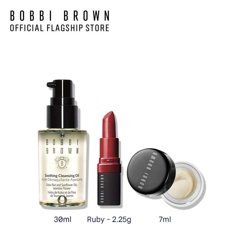 [Phiên bản trải nghiệm] Bobbi Brown 3 món: Kem lót dưỡng da Vitamin Enriched Face Base 7ml, Son Mini Crushed Lip 2.25g, Dầu Tẩy Trang Soothing Cleansing Oil 30ml giá rẻ