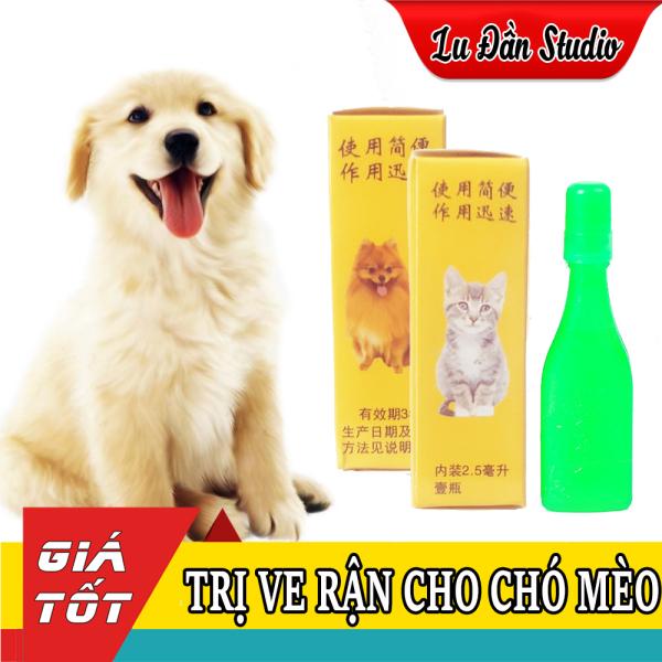 Lọ Diệt Ve Rận Bọ Chét Nhỏ Gáy Chó Mèo 2.5ML