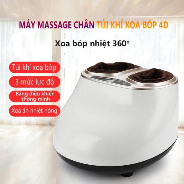 Máy massage chân mát xa chân xoa bóp chân đa năng túi khí bao bọc, máy mát xa màu trắng và hồng đất