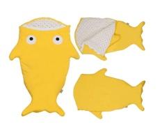 Hình ảnh 1 cái Trẻ Sơ Sinh Túi Ngủ Ấm Áp Cá Mập Giường Chăn Đầm Bọc Ngủ Bao-quốc tế
