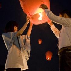 10 Cái/lô Trung Quốc Lửa Bầu Trời Bay Đèn Nến Đảng Chúc Lồng Đèn (màu Sắc Ngẫu Nhiên)-quốc Tế Có Giá Rất Tốt