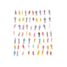 Hình ảnh 100Pcs Mini HO Scale 1:100 Painted Model People Mix Painted Model Figures - intl