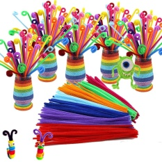 Hình ảnh 105pcs/lot bendaroos Montessori Materials Math Chenille stems Sticks Puzzle Craft Children Pipe Cleaner Educational Creative Toy - intl