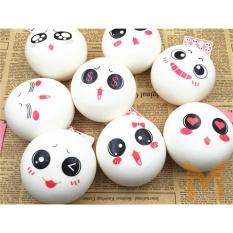 Hình ảnh 10cm Jumbo Squishy Cute White Charms Buns Cell Phone Charm Pendant Bag Strap - intl