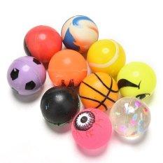 Hình ảnh 10Pcs Color 27mm Bouncy Jet Balls Kids Toy For Pinata Loot Party Bag Fillers - intl