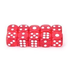 Hình ảnh 10pcs Transparent Six Sided Spot Dice Toys D6 Rpg Role Playing Game 13mm Red - intl