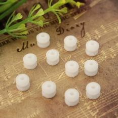 Hình ảnh 10pcs x Plastic Worm Plastic Gear Aperture 2mm Size: 6*6mm DIY Model accessories White - intl