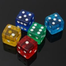 Hình ảnh 10 cái/bộ 16 mét Xúc Xắc Trong Suốt Tiêu Chuẩn D6 6 Mặt Acrylic Cho GAME NHẬP VAI Chơi Game-intl