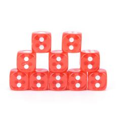 Hình ảnh 10pcs/Set Standard 12mm Dice Set D6 Acrylic For Playing Game 3 Colors Red - intl