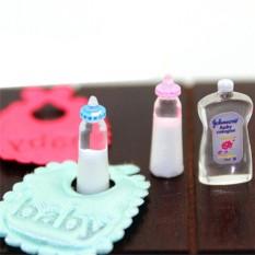 Hình ảnh 1:12 Búp Bê Nhà Thu Nhỏ Cho Bé Chai Dầu Gội Yếm Bộ Mầm Non Phụ Kiện-intl