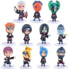 Hình ảnh 11Pcs/Set 3.1inch Naruto Akatsuki Uchiha Itachi Madara Sasuke Hidan Orochimaru Tobi Pein Deidara Dolls Action Figures Anime Toys - intl