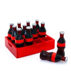 Hình ảnh 12 cái Mini Nhựa Than Cốc Nhà Búp Bê Nhà Búp Bê Mini Cốc Nước Giải Khát Phụ Kiện Bình Bộ Đồ Chơi với Hộp Lưu Trữ
