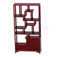 Hình ảnh 1:25 Miniature 2-Door 1-Drawer Chinese Cabinet Rose Wood Color - intl