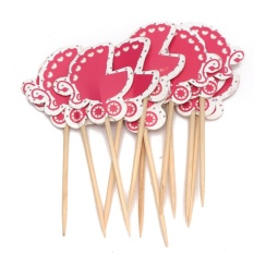 Hình ảnh 12pcs Birthday Party Cupcake Paper Food Picks Sticks Toppers Cake Decoration - intl
