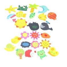 Hình ảnh 12PCS Wooden Animals Refrigerator Magnetic Fridge Magnet Sticker - intl