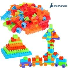 Hình ảnh 132pcs Puzzle Plastic Building Block Toy Kids DIY Assembly Model Gifts - intl