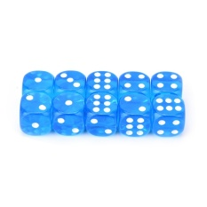 Hình ảnh 13mm 10pcs Transparent Six Sided Spot Dice Toys D6 Rpg Role Playing Game Blue - intl