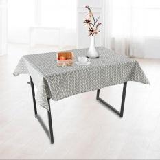 Hình ảnh 140x180 cm Vải Lanh Cotton Khăn Trải Bàn Ăn Nhà Bếp Bàn Bảo Vệ Màu Xám-quốc tế