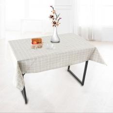 Hình ảnh 140x180 cm Vải Lanh Cotton Khăn Trải Bàn Ăn Nhà Bếp Bàn Bảo Vệ Màu Xám lưới-quốc tế
