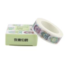 Hình ảnh 15mm X 10m Animal Print Washi Masking Tape Kitty Nightingale Fish Cat Cute - intl