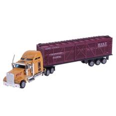 Hình ảnh 1: 65 mỹ Xe Tải Xe Container Xe Hợp Kim Mô Hình Mô Phỏng Xe Đồ Chơi-quốc tế