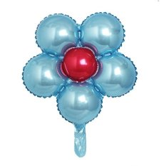 Hình ảnh 18 inch Flower Designed Foil Balloon Romantic Mylar Balloons for Valentin's Day Engagement Wedding Party Decoration (Sky Blue with Random Center Color) - intl