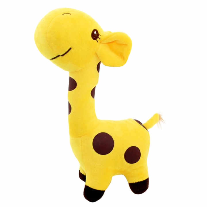 18cm Cute Giraffe Soft Plush Toy Animal Doll for Baby Kid Birthday Party Christmas Gift Yellow