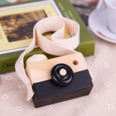 Hình ảnh 1Pc Cute Baby Kids Children Wood Camera Toy Room Decor Photographed Props Gift Present (Black) - intl