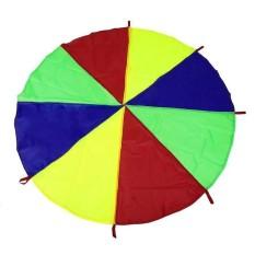 Hình ảnh 1pc Durable Children Kids Play Outdoor Game Exercise Sport 8 Handles Rainbow Parachute Parent-child Interactive Toy - intl