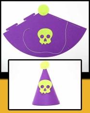 Hình ảnh 1 cái Mới Dễ Thương Phù Thủy Bí Ngô Bát Mẫu Đầu Lâu Halloween Trang Trí Tiệc Nón Đảng Nỉ Mũ Vải dành cho Trẻ Em kids -quốc tế