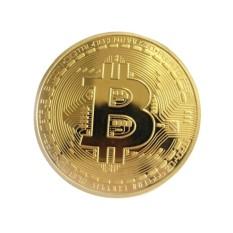 Hình ảnh 1X Bộ Sưu Tập Đồng Xu Bitcoin Mạ Vàng BTC Coin Làm Quà Tặng - Quốc Tế