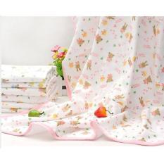2 chiếc Khăn tắm 4 lớp in hoa cao cấp cho bé