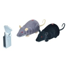 Hình ảnh 2 PCS Black and Grey Remote Control Infrared Realistic RC Mouse Toy - intl