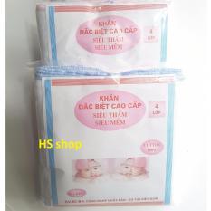 20 Khăn sữa 4 lớp 100% cotton (KT: 27x33cm) -Sạch, đẹp, mềm mại -NPP HS shop
