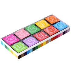 Hình ảnh 20 PCS 20 Color Craft Ink Pad Inkpad Printing Stamps for Paper Wood Fabric Kids Fingerprint DIY Painting - intl