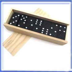 Hình ảnh 28pcs/set Wooden Dominoes Board Travel Funny Game Toy Kid Children Gifts - intl