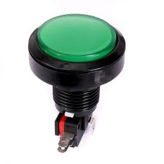 Hình ảnh 2pcs 45MM Arcade Video Game Big Round Push Button LED Lighted Illuminated Lamp Green - intl