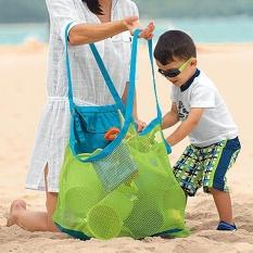 Hình ảnh 2Pcs Baby Kids Sand Away Beach Bags Sea Shell Storage Bags Children Beach Toys Clothes Towel Bags (S) - intl