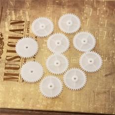Hình ảnh 2SET 10pcs White Gear 2mm Plastic Accessories Of DIY Model Toy Motor Shaft Gear White - intl