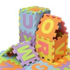 Hình ảnh 2sets 36Pcs Soft EVA Foam Baby Kids Play Mat Alphabet Number Puzzle Jigsaw 14.2x14.2cm - intl