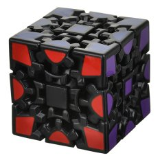 Hình ảnh 3 x 3 x 3 Wheel Gear Style Rubik's Cube - Black - intl