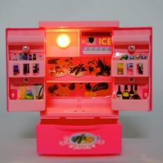 Hình ảnh 360DSC Đồ Chơi Giáo Dục Điện Mini Tủ Lạnh Trẻ Em Giả & Cho Bé Vui Chơi Trẻ Em Đồ Gia Dụng Đồ Chơi-Màu Hồng-quốc tế