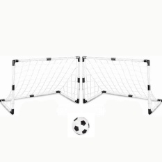 360dsc Set Of 2 Diy Youth Sports Soccer Goals With Soccer Ball And Pump Practice Scrimmage Game - White - Intl By 360dsc.
