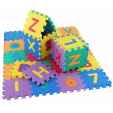 Hình ảnh 36pcs Soft Multicolors Jigsaw Carpet Rugs Baby Activity Play Mat Alphabet Number Puzzle Floor Mat for kids children Baby - intl