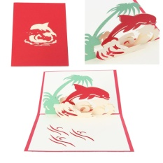 Hình ảnh 3D Yêu Thiệp chúc mừng Bật Lên Cắt Giấy Bưu Thiếp Sinh Nhật Cưới Valentine Quà Tặng-intl
