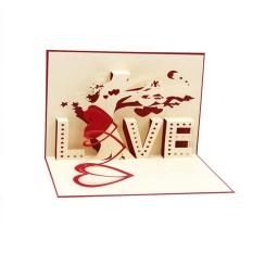 Hình ảnh 3D Bật Lên Thẻ Cây Tình Yêu Trái Tim Valentine Người Yêu Chúc Mừng Sinh Nhật Lời Chào-quốc tế