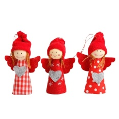 3Pcs Christmas Hanging Ornaments Cute Hanging Snowman Angel Hanging Decorations for Xmas Tree - intl