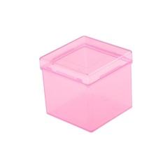 Hình ảnh 3x3x3 Khối Đóng Gói Trong Suốt Nhựa Xếp Hình Hộp Tiết Kiệm Giá Đỡ Bên Ngoài Màu Hồng-intl