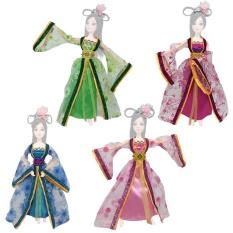 Hình ảnh 4 bộ Tuyệt Đẹp Trung Quốc Phong Cách Trang Phục Đầm Áo Quần Áo Phụ Kiện Đồ Chơi Bé Gái-quốc tế